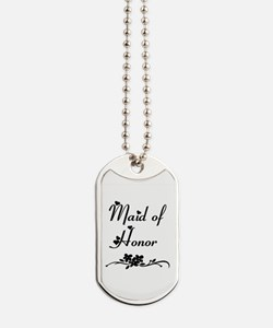 Classic Maid of Honor Dog Tags