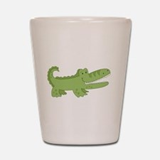 Cutest Green Alligator Shot Glass