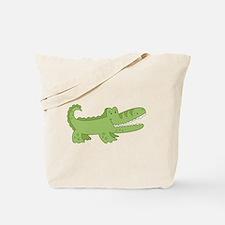 Cutest Green Alligator Tote Bag