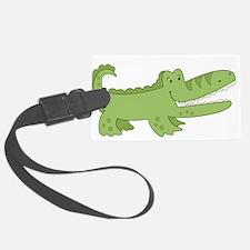 Cutest Green Alligator Luggage Tag