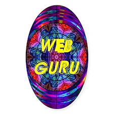 Web Guru Oval Decal