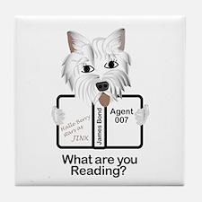 Westie Reads Tile Coaster