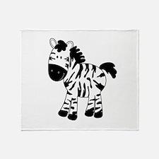 Zebra Standing Up Throw Blanket