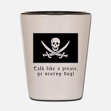 Jolly Roger Talk Like a Pirate Shot Glass