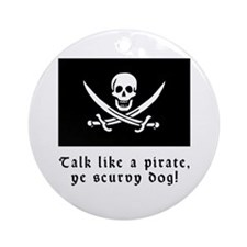 Jolly Roger Talk Like a Pirate Ornament (Round)