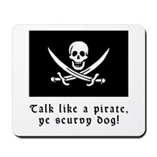 Jolly Roger Talk Like a Pirate Mousepad