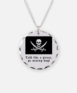 Jolly Roger Talk Like a Pirate Necklace