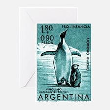 1961 Emperor Argentina Penguins Postage Stamp Gree