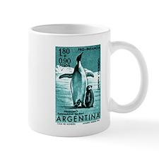 1961 Emperor Argentina Penguins Postage Stamp Mug
