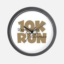 10K Run Tan Wall Clock