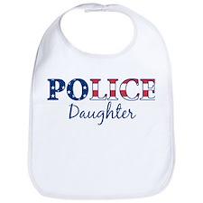 Police Daughter - patriotic Bib