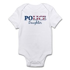 Police Daughter - patriotic Infant Bodysuit