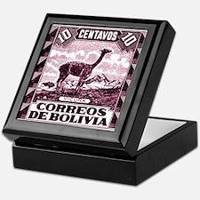 Antique 1939 Bolivia Vicuna Postage Stamp Keepsake