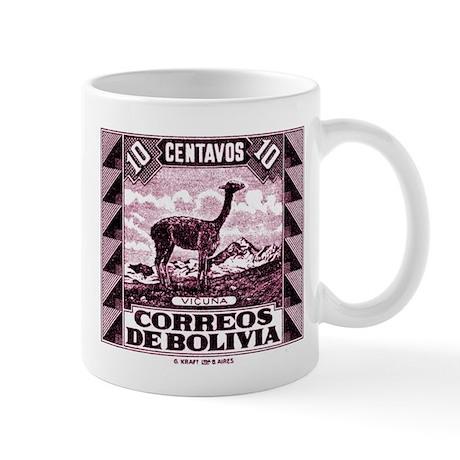 Antique 1939 Bolivia Vicuna Postage Stamp Mug