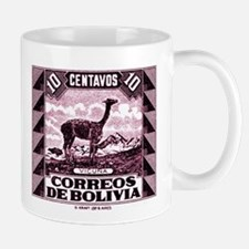 Antique 1939 Bolivia Vicuna Postage Stamp Mug
