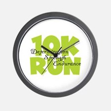 10K Run Green Wall Clock