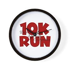 10K Run Red Wall Clock