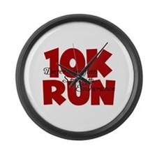 10K Run Red Large Wall Clock
