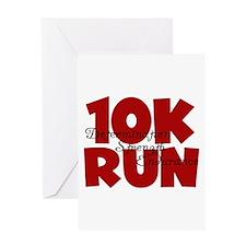 10K Run Red Greeting Card