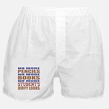 Teacher Retirement Gift Idea Boxer Shorts