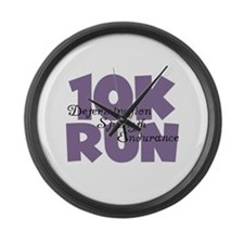 10K Run Purple Large Wall Clock