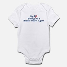 My Heart: Border Patrol Agent Infant Bodysuit