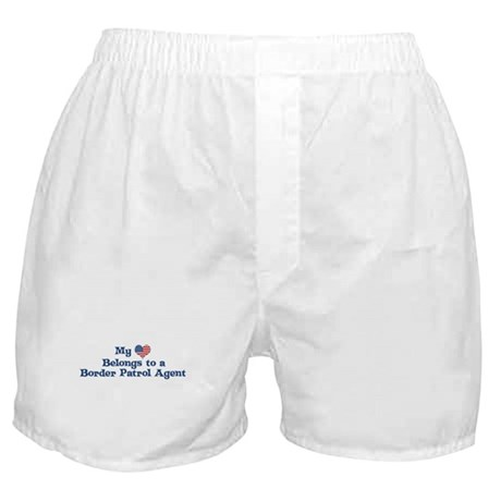 My Heart: Border Patrol Agent Boxer Shorts