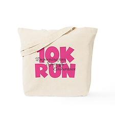10K Run Pink Tote Bag