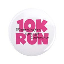 """10K Run Pink 3.5"""" Button"""