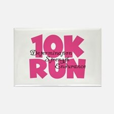 10K Run Pink Rectangle Magnet