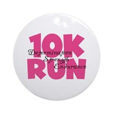 10K Run Pink Ornament (Round)