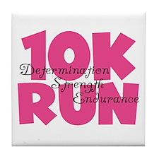 10K Run Pink Tile Coaster