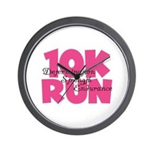 10K Run Pink Wall Clock