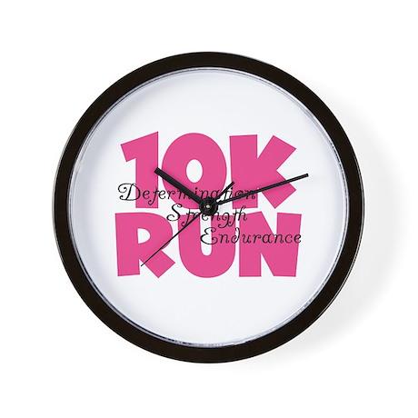 10K Run Pink Wall Clock