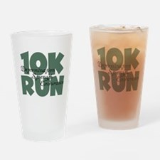 10K Run Teal Drinking Glass
