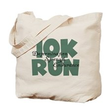 10K Run Teal Tote Bag