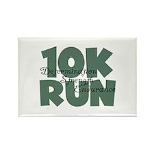 10K Run Teal Rectangle Magnet
