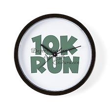 10K Run Teal Wall Clock