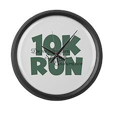 10K Run Teal Large Wall Clock