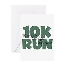 10K Run Teal Greeting Card