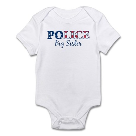Police Big Sister - patriotic Infant Bodysuit