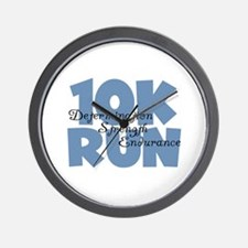 10K Run Blue Wall Clock