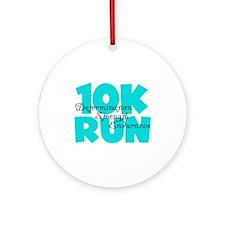 10K Run Aqua Ornament (Round)