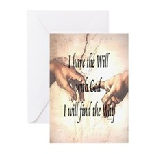 Will With God Greeting Cards (Pk of 20)