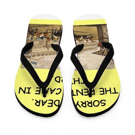 horse racing Flip Flops