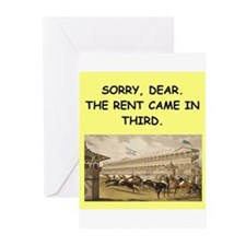 horse racing Greeting Cards (Pk of 20)