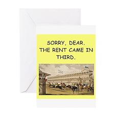 horse racing Greeting Card