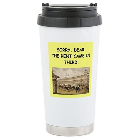 horse racing Travel Mug
