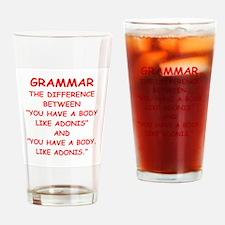 grammar Drinking Glass