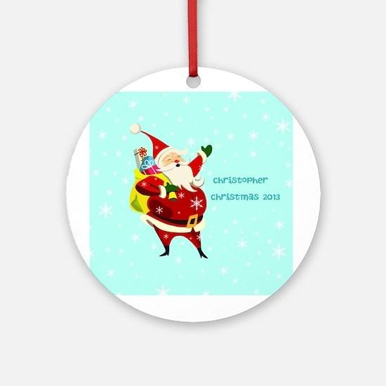 Personalized Santa Claus Ceramic Ornament